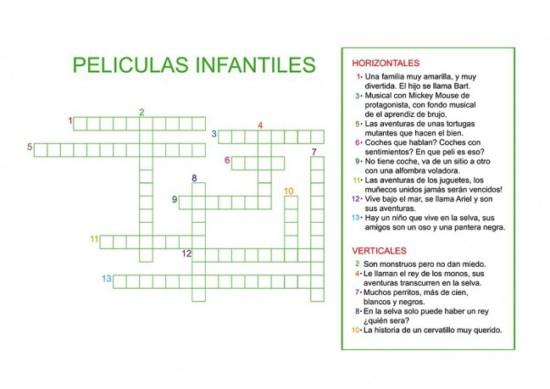 Crucigramas Para Imprimir Ninos Imagui