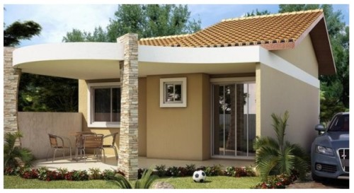 85 im genes de fachadas de casas lindas modernas y sencillas for Disenos de exteriores para casas pequenas