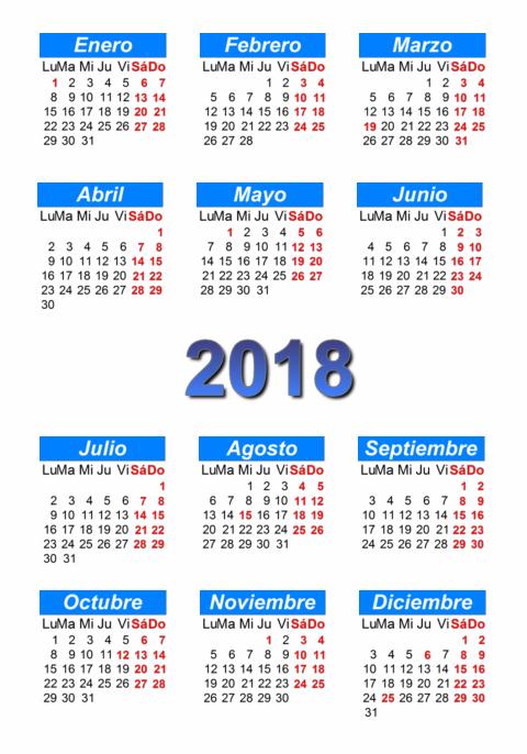 ... 2017 y 2018 – Calendario Puro Pelo 2017- Almanaques para imprimir