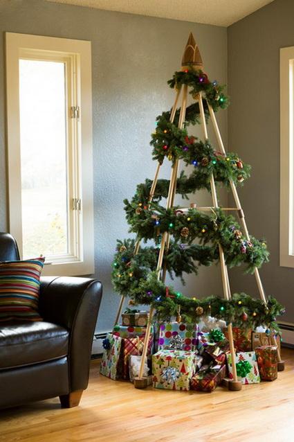 diseos de arbolitos de navidad de pared
