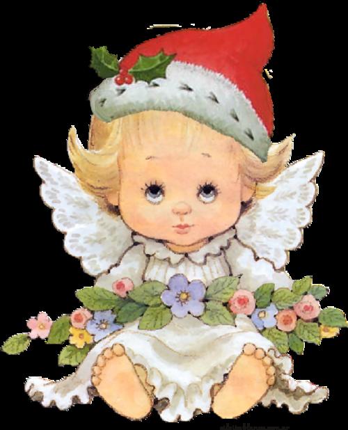 Angelitos navideños para descargar en navidad