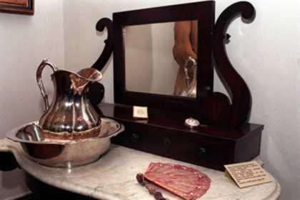 mobiliario espejo y jofaiana de plata