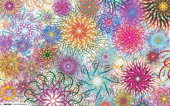 Flores abstractas multicolor-381592