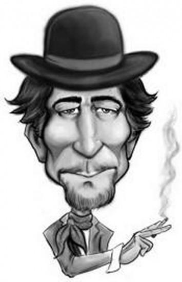 caricaturas en bla y negro de sabina