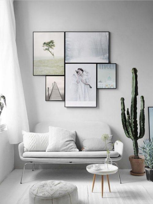 Imágenes con ideas nuevas para colocar cuadros en una pared