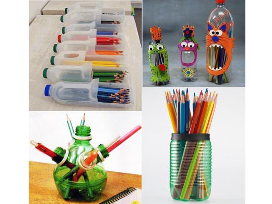 90 ideas nuevas para reciclar diferentes materiales - Cosas originales para navidad ...