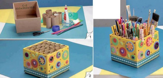 ninaComo reciclar cartón y hacer manualidades para niños