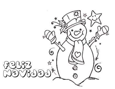 Dibujos de navidad faciles con color