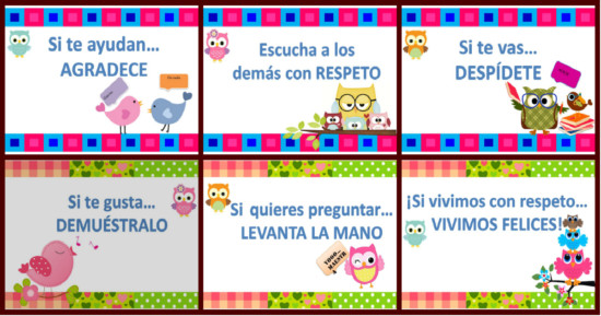 45 Carteles De Buenos Modales Para Niños Mensajes Con