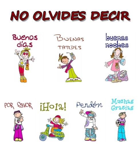 45 Carteles de buenos modales para niños: Mensajes con valores para ...