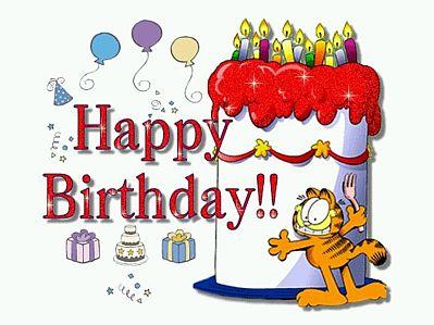 garfieldTarjetas de Cumpleaños con Animales 12