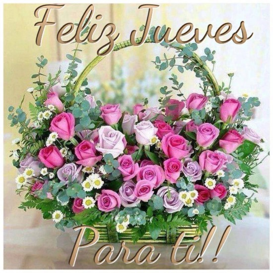 Resultado de imagen de feliz jueves con flores
