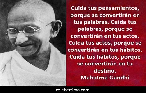 Frases De Mahatma Gandhi Con Mensajes De Paz Tarjetas Para Imprimir