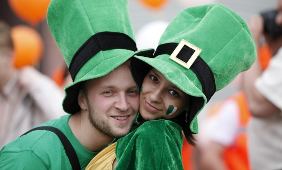 Happy couple portrait (Saint Patrick's Day)