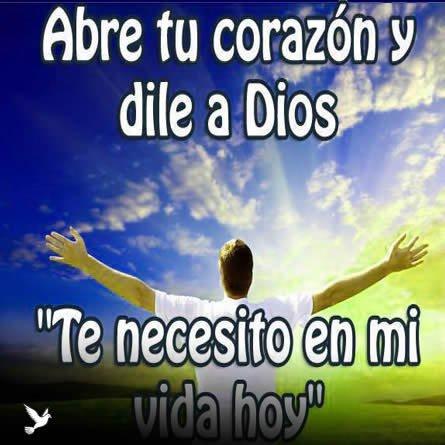 mensajes para Dios te necesito