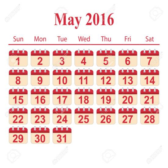 mayo46167776-calendario-2016-mayo-Foto-de-archivo