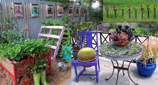 Muebles-viejos-reciclados-para-decorar-el-jardin