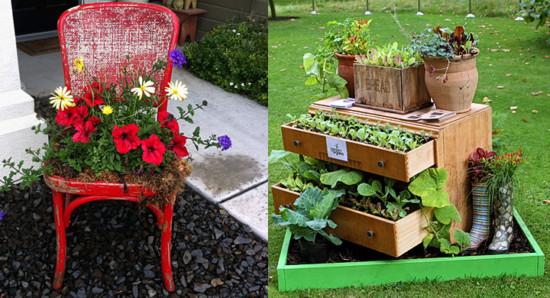 muebles-viejos-reciclados-en-el-jardin