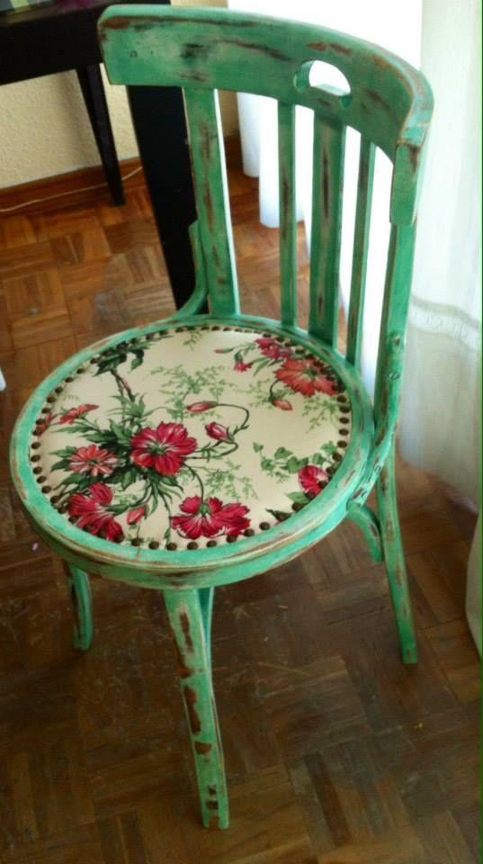 Im genes con ideas nuevas y modernas para reciclar muebles en casa - Sillas antiguas restauradas ...