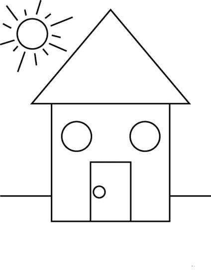 100 figuras geom tricas infantiles en dibujos para ni os for Cuadros con formas geometricas