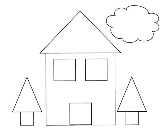 100 figuras geom tricas infantiles en dibujos para ni os for Diferentes colores para pintar una casa
