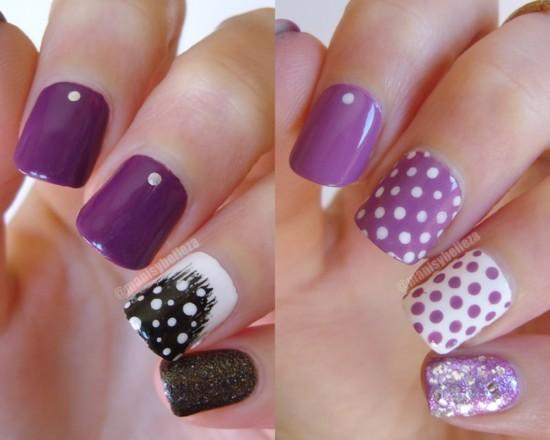 Nail art Violeta
