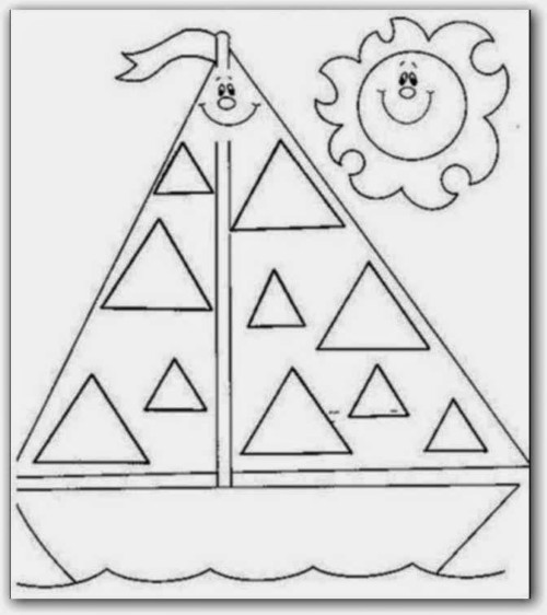 100 Figuras geométricas infantiles en dibujos para niños: Formas ...