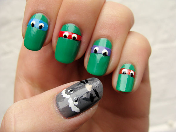 nail-art-decoracion-uñas-graciosa-original-tortuja-ninja-turtles
