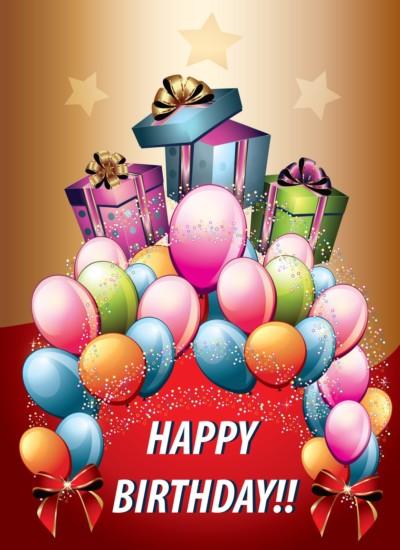 postal de cumpleaños con mensaje de happy birthday