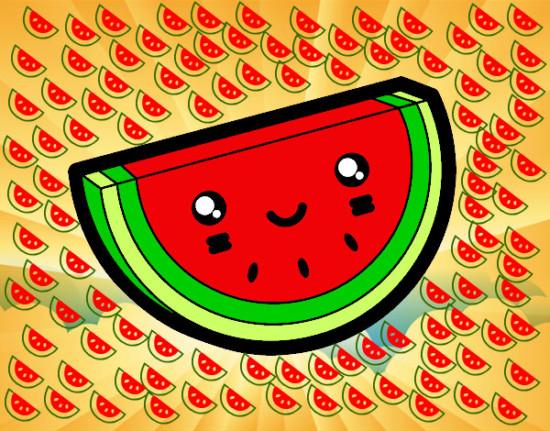 kewaiitrozo-de-sandia-comida-frutas-pintado-por-luiisaomg-9921419