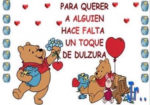 Imágenes De Winnie Pooh Con Frases Dulces Y Tiernas De Amor Y Amistad