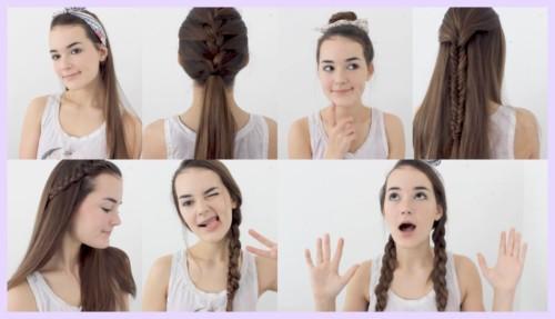 Peinados Faciles Cabello Largo Y Suelto Cortes De Pelo De