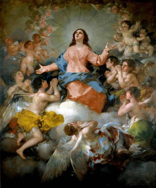 La-Asunción-de-la-Virgen.-Goya.-Chinchón