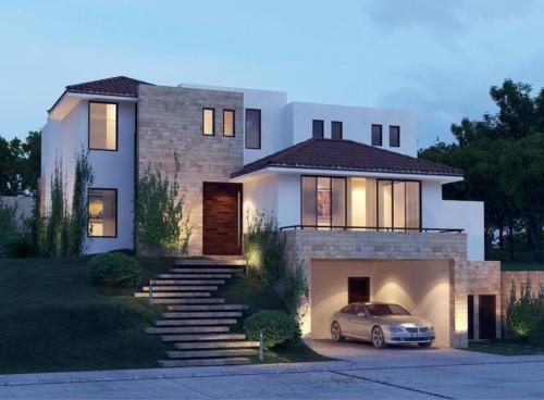 fotos de fachada de casas con cochera 1 - Fotos De Fachadas De Casas
