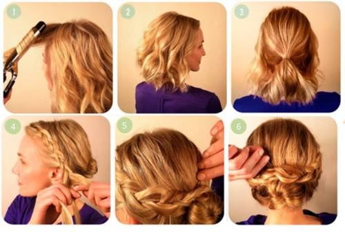 Peinados de noche cabello corto recogido