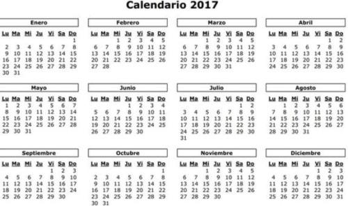 Calendarios 2017 Y 2018 Calendario Puro Pelo 2017 Almanaques