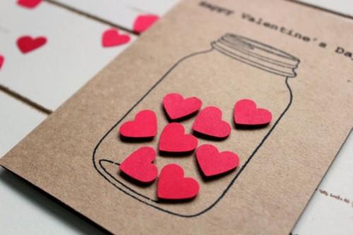 Tarjetas de amor y artesan as rom nticas para san valentin - Tarjetas de navidad manuales ...