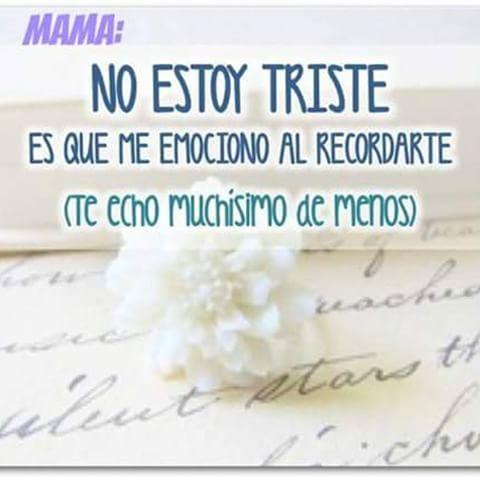Imágenes De Te Extraño Mamá Y Frases Para Una Mamá