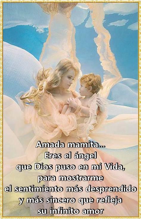 Imágenes De ángeles Con Frases Y Pensamientos Bonitos Para