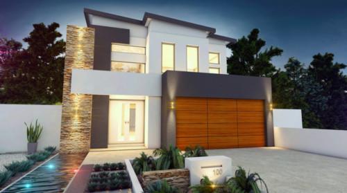 85 im genes de fachadas de casas lindas modernas y sencillas - Materiales para fachadas de casas ...