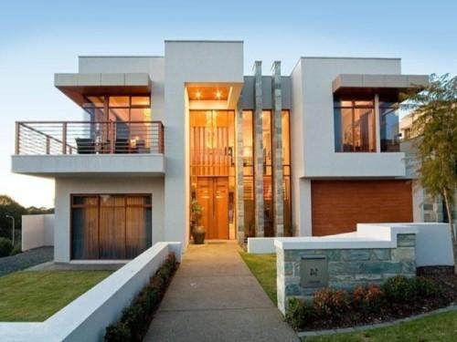 85 im genes de fachadas de casas lindas modernas y sencillas - Materiales fachadas modernas ...