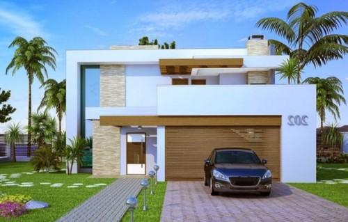 85 im genes de fachadas de casas lindas modernas y sencillas for Casa moderna jardines