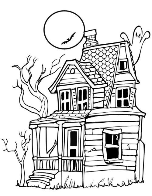 Dibujos y diseños originales de Halloween para Colorear