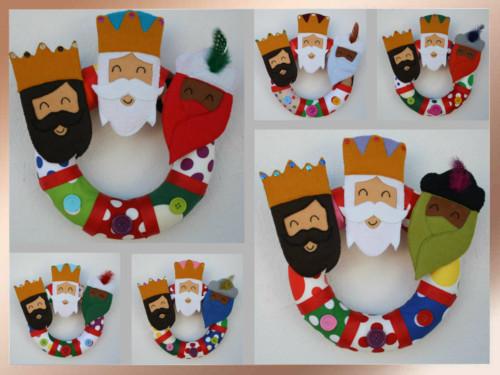 Ideas nuevas para decorar y adornos de los reyes magos for Decorar las puertas en navidad