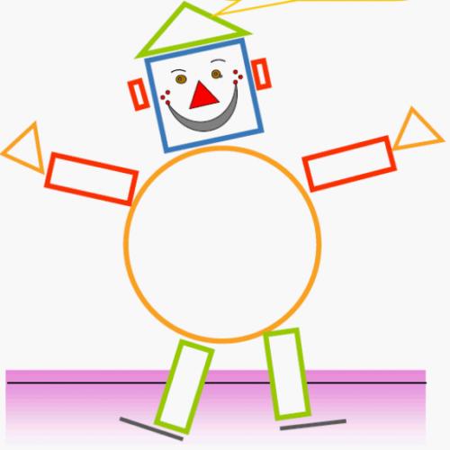 100 figuras geom tricas infantiles en dibujos para ni os for Immagini di clown da colorare