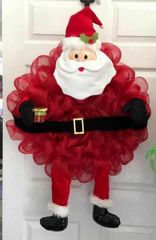 90 ideas y dise os de coronas navide as 2017 2018 for Guirnaldas navidenas para puertas y ventanas