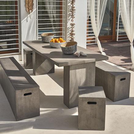 Muebles de cemento pulido 170 ideas nuevas en hormig n en mobiliario exterior e interior - Mesas de piedra para exterior ...