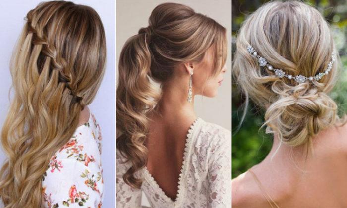 Banging peinados para ir a una boda Galería de ideas de coloración del cabello - + 45 Peinados para Novias: Ideas novedosas