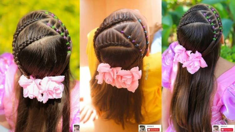 Peinados para ninas trenzas cruzadas