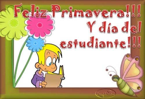 Tarjetas día del estudiante y mensajes bonitos día de la primavera